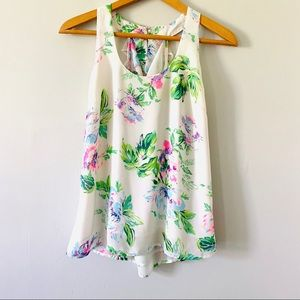 Norah Boutique Floral Tank Top Size Small